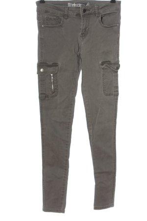 Denim Co. Jeans cigarette gris clair style décontracté