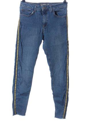 Denim Co. Skinny Jeans blau-blassgelb Casual-Look