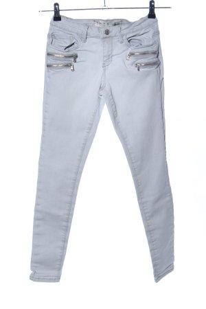 Denim Co. Skinny Jeans hellgrau Casual-Look