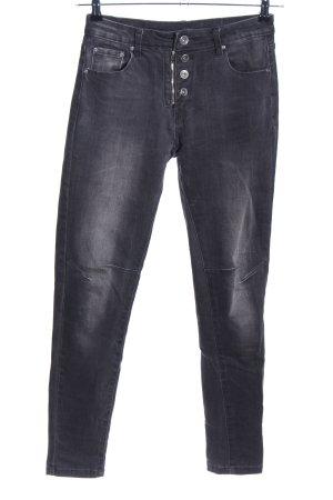 Denim Co. Slim Jeans hellgrau Casual-Look