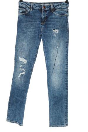 Denim Co. Slim Jeans blau Casual-Look