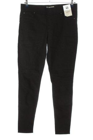 Denim Co. Pantalon en jersey noir style décontracté