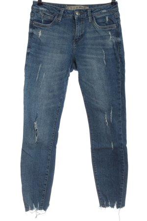 Denim Co. Jeans coupe-droite bleu style décontracté