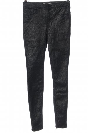 Denim Co. Stretch Trousers black flecked casual look