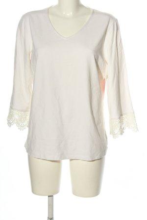 Denim Co. Camisa con cuello V blanco look casual