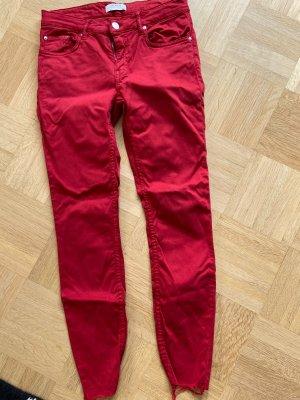 Zara Jeans slim rouge foncé
