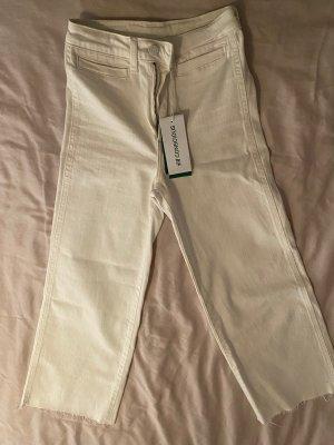 #Denim Culotte #high waist #Jeans Hose weiß