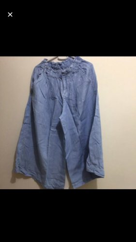 7/8 Length Trousers azure cotton
