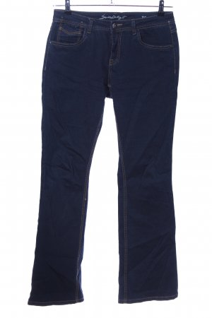 Jeans flare bleu style décontracté