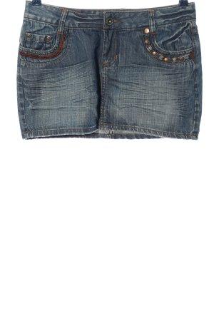 denim division Gonna di jeans blu stile casual