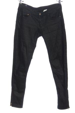 & DENIM Pantalon cinq poches noir style décontracté