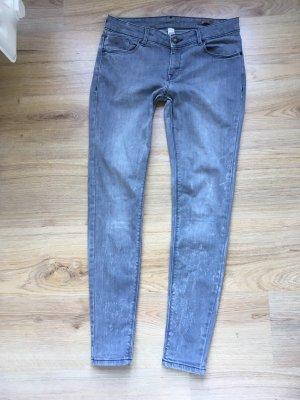 Denim graue Jeans Used Look Mango
