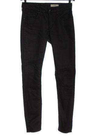& DENIM High Waist Trousers black striped pattern casual look