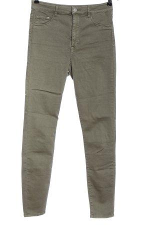 & DENIM Spodnie z wysokim stanem brązowy W stylu casual