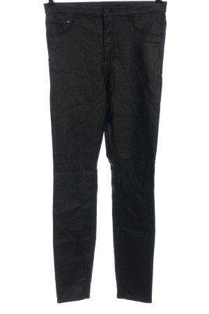 & DENIM Hoge taille broek zwart casual uitstraling