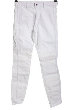 & DENIM Jeansy z wysokim stanem biały W stylu casual