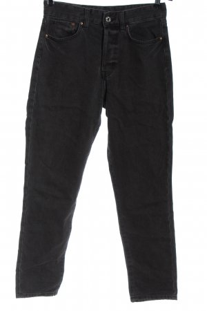 & DENIM Hoge taille jeans lichtgrijs casual uitstraling