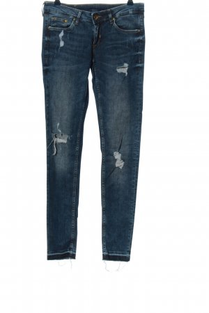 & DENIM Jeans a vita alta blu stile casual