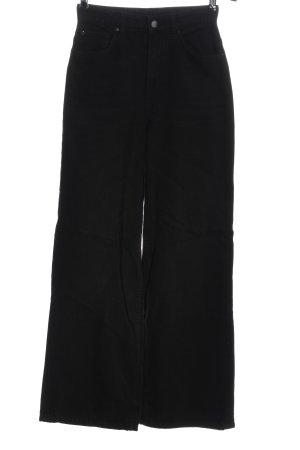 & DENIM Hoge taille jeans zwart casual uitstraling