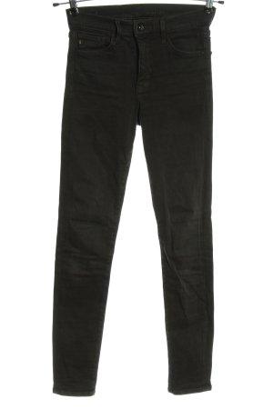 & DENIM Jeans a vita alta nero stile casual
