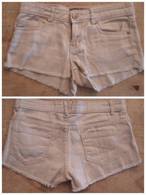 Denim Hotpants / Jeans, Beige Größe 34