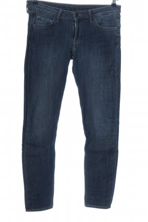 & DENIM Jeans vita bassa blu stile casual