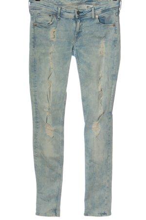& DENIM Jeans vita bassa blu stile da moda di strada