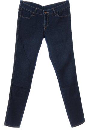 & DENIM Jeans vita bassa blu stile casual