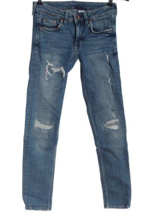 & DENIM Jeansy biodrówki niebieski W stylu casual
