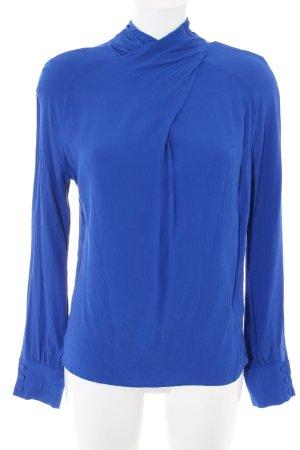 Denim Hunter Langarm-Bluse blau Casual-Look
