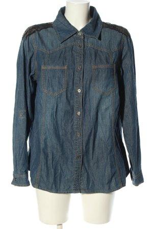 Denim Identity Chemise en jean bleu style décontracté