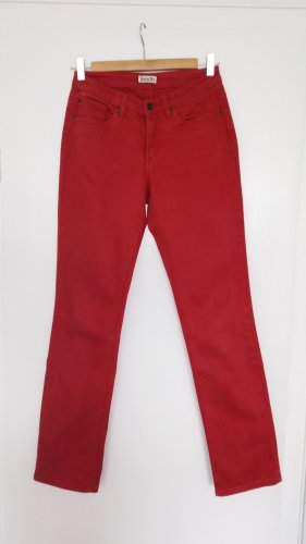 Boysen's Jeans met rechte pijpen karmijn