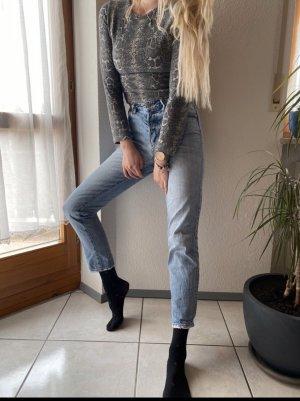 & DENIM Hoge taille broek azuur