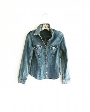 denim / jeans hemd / vintage / boho / hippie / casual / blue jeans