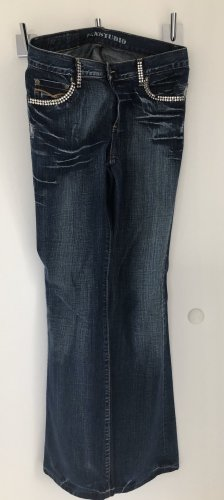 Denim Studio Jeans svasati blu scuro Cotone