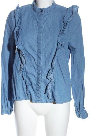 & DENIM Camicia denim blu stile casual