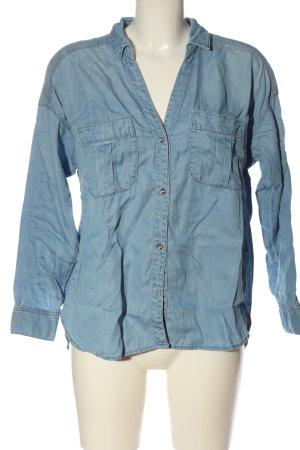& DENIM Chemise en jean bleu style décontracté