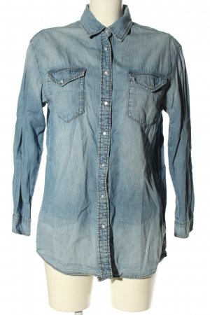 & DENIM Camicia denim blu stile casual