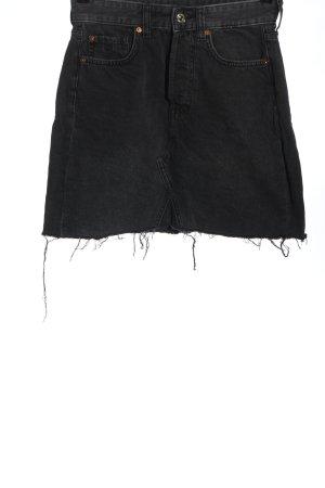 & DENIM Jupe en jeans noir style décontracté