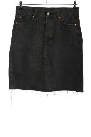 & DENIM Gonna di jeans nero stile casual