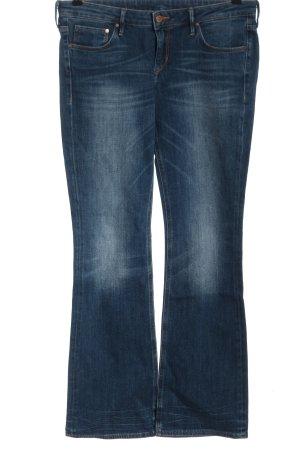 & DENIM Jeansowe spodnie dzwony niebieski W stylu casual