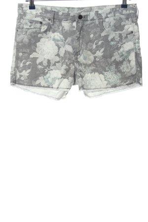 & DENIM Pantalón corto de tela vaquera gris claro estampado floral look casual