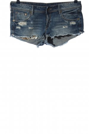 & DENIM Pantalón corto de tela vaquera azul look casual
