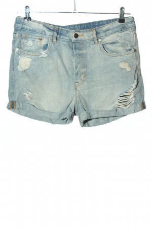 & DENIM Pantaloncino di jeans blu stile casual