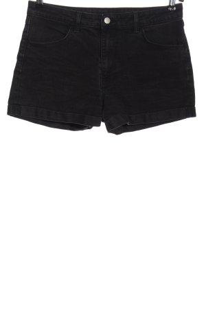 & DENIM Short en jean noir style décontracté