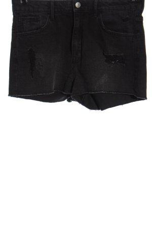& DENIM Pantaloncino di jeans nero stile casual