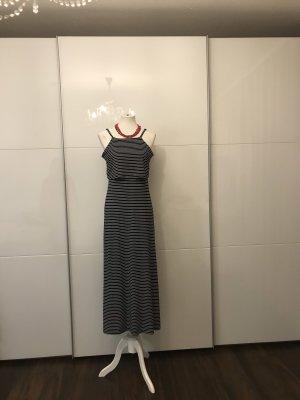 & DENIM Maxi-jurk wit-donkerblauw