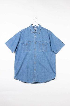 Chemise hawaïenne bleu jean