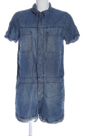 & DENIM Kurzer Jumpsuit blauw casual uitstraling