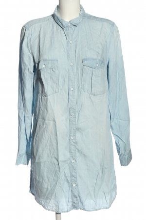 & DENIM Langarmhemd blau Casual-Look